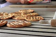 Świeży piec flatbread Fotografia Stock