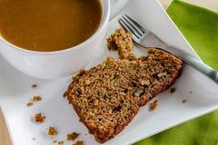 Świeży Piec Zucchini i Cynamonowy chleb Obraz Royalty Free