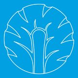 Świeży plasterek brokuł ikony kontur Zdjęcie Royalty Free
