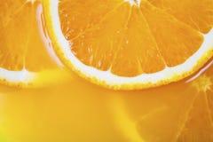 Świeży plasterek pomarańczowy zakończenie Obrazy Royalty Free