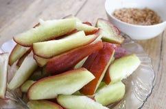 Świeży pokrojony jabłko Zdjęcie Stock