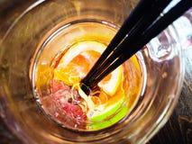 Świeży pomarańczowej sody napój wypełniający fotografia royalty free