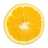 Świeży Pomarańczowy plasterek Odizolowywający zdjęcie stock