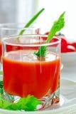 Świeży pomidorowy sok z selerem fotografia royalty free