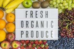 Świeży produkt spożywczy i swój świadczenia zdrowotne fotografia royalty free