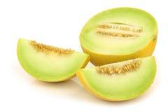 Świeży przyrodni galia melon, niektóre kawałki i fotografia stock