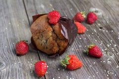 Świeży słodka bułeczka z jagodami Zdjęcie Royalty Free