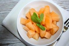 Świeży, słodki melon, obraz royalty free