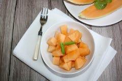 Świeży, słodki melon, obrazy stock