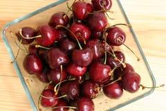 Świeży słodkich wiśni zamknięty up Zdjęcia Stock