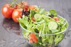 Świeży sałatkowy Zdrowy jedzenie Zdjęcie Stock