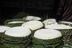 Świeży ser dla sprzedaży dzwonił Jben przy souk przy fezem el Bali obraz stock