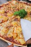 Świeży ser najwyższy i hawajczyk pizza Obrazy Stock