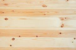 Świeży sosnowy drewno zaszaluje tło odgórnego widok Obrazy Stock