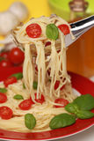świeży spaghetti Zdjęcie Royalty Free