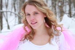 Świeży Stawiający czoło zimy kobiety portret fotografia royalty free
