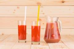 Świeży strawberrie smoothie Zdjęcia Royalty Free
