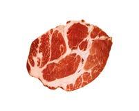 Świeży surowy wołowina stek odizolowywający na bielu fotografia royalty free