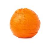 Świeży tangerine cięcie w plasterkach odizolowywających nad Obraz Royalty Free