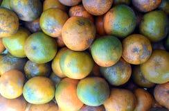 Świeży tangerine lub mandarynki pomarańcze owoc tło Obraz Royalty Free