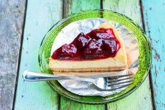 Świeży truskawkowy cheesecake Obraz Stock