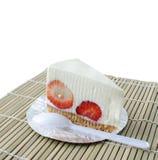 Świeży truskawkowy cheesecake Fotografia Royalty Free