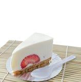 Świeży truskawkowy cheesecake Zdjęcie Stock