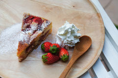 Świeży truskawkowy cheesecake Fotografia Stock
