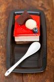 Świeży truskawkowy jogurtu mousse Obrazy Stock