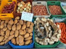 Świeży W okolicy R produkt spożywczy, Grecki Uliczny rynek Zdjęcia Stock