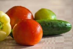 Świeży warzywo na stole Zdjęcie Royalty Free