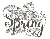 Świeży wiosny tło z literowaniem ilustracji