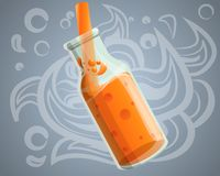 Świeży zdrowy smoothie pojęcia tło, kreskówka styl ilustracji