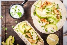 Świeży zdrowy tacos Obrazy Stock