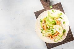 Świeży zdrowy tacos Obraz Stock