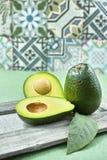 Świeży zielony avocado Zdjęcia Royalty Free