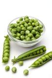świeży zielony groch Zdjęcie Stock