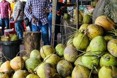Świeży zielony kokosowy owocowy Bangkok, Tajlandia, Kuala Lumpur, Malezja obraz royalty free