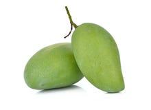 Świeży zielony mango na białym tle Zdjęcia Royalty Free