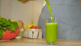 Świeży zielony smoothie zbiory