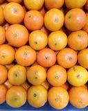 Świeżych pomarańcz owocowy dobry układa dla sprzedaży na rynku Fotografia Stock