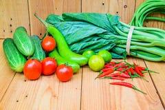 Świeżych rolników targowy warzywo od above z kopii przestrzenią Zdjęcie Stock