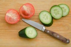 Świeżych warzyw ogórka pomidor obrazy stock