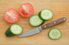 Świeżych warzyw ogórka pomidor zdjęcia royalty free