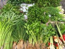Świeżych warzyw rynek w Tajlandia Obrazy Stock