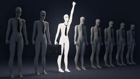 świecąca indywidualności osoba Symbol indywidualizm Biznes royalty ilustracja