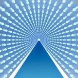 świecący strzała tunel royalty ilustracja
