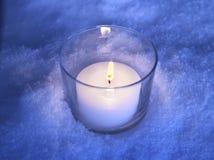 świeca śnieg Zdjęcia Stock