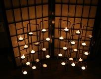 świeca ciemności Obrazy Royalty Free