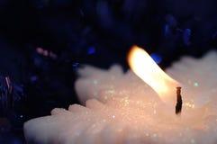 świeca kształtny płatek śniegu zdjęcia stock